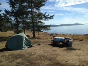 Camping at Ruckle