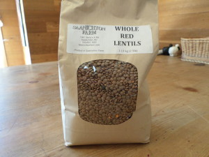 Red lentils from Saanichton Farm